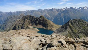 Schwarz lake seen from the summit.