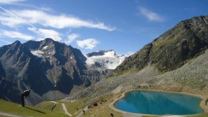At Rotkogel hutte, 2666 m.