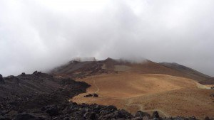View of the crater of Pico Viejo.
