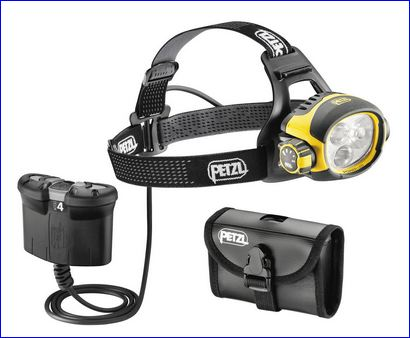 Petzl Ultra Vario Belt headlamp.