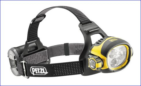 Petzl Ultra Vario specialized headlamp.