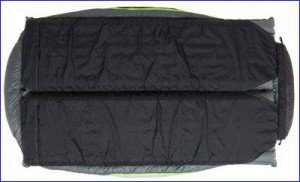 The bottom of Big Agnes King Solomon 15 Degree Sleeping Bag.