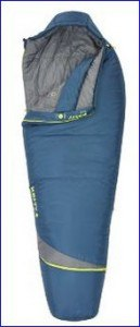 Kelty Tuck 35 degree mummy sleeping bag.
