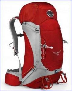 Osprey Kestrel 38 backpack, front view.