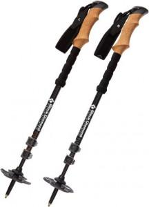 A pair of Alpine Carbon Cork trekking pole