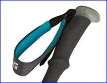 The grip with a padded strap.