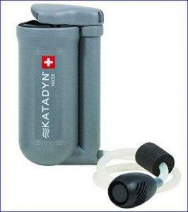 Katadyn Hiker water microfilter.