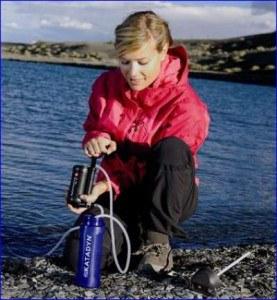 Katadyn Hiker Pro water filter in action.