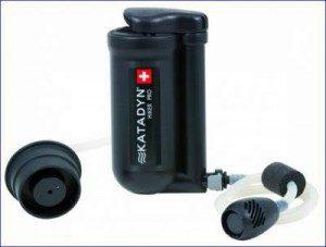 Katadyn Hiker PRO water microfilter.