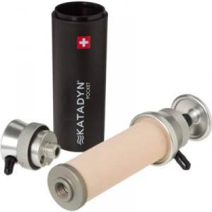 The most essential peaces of Katadyn Pocket water filter.