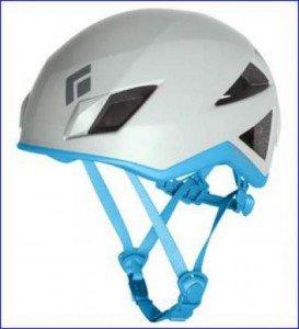 Black Diamond Vector helmet, glacier-blue color.