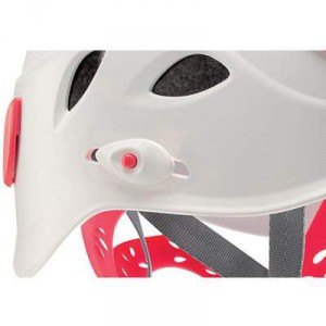 A slider which regulates the position of the headband.