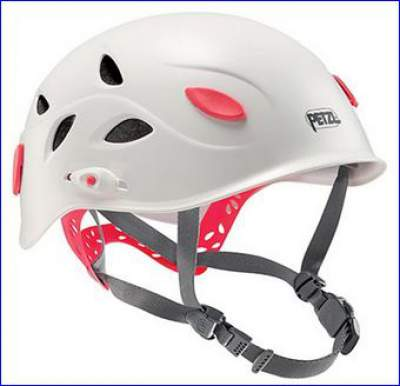Petzl Elia climbing helmet for women.