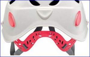 Omega headband system in Elia helmet.