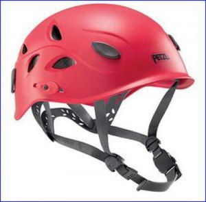 Elia helmet in red.