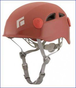 Half Dome helmet in red.