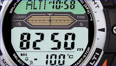 Weather prediction tool on Casio Altimeter watch.