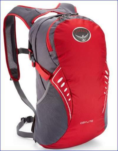 Osprey Daylite Pack in red.