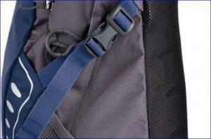 Side straps on Daylite pack.