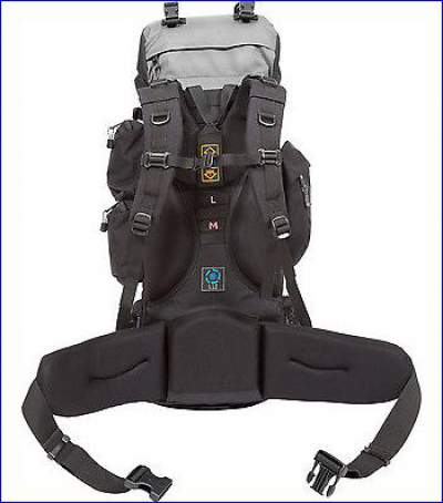 Suspension and the back side of Teton Sports Explorer 4000 backpack.