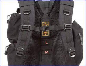 Harness with height adjustment on Teton Sports Explorer 4000 backpack.