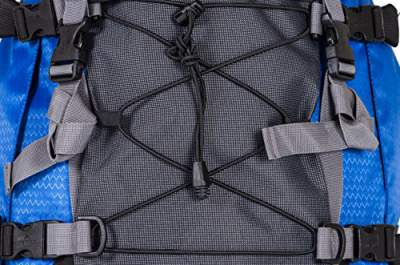 Bungee mesh on the front.