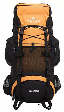 Teton Sports Scout 3400 internal frame backpack - Orange.