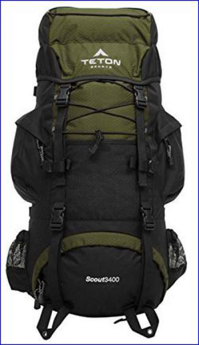 Teton Sports Scout 3400 internal frame backpack hunter green.