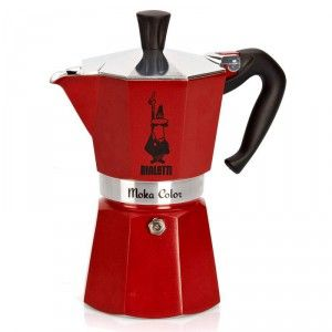 Bialetti stove top coffee pot red.