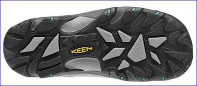 Non-marking rubber sole with rather aggressive 4 mm lugs design.