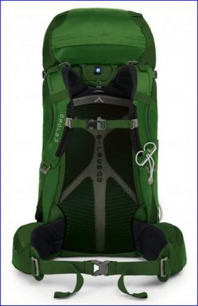 Suspension system in Osprey Kestrel 48 backpack.