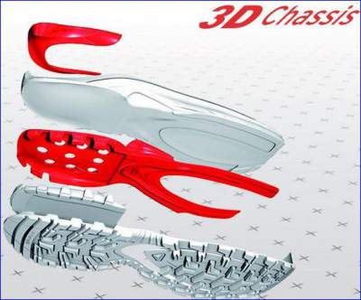 Salomon's 3D chassis system.