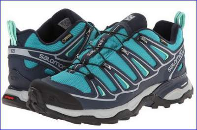 A pair of Salomon X Ultra 2 GTX shoes.