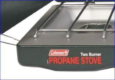 Coleman two burner propane stove.
