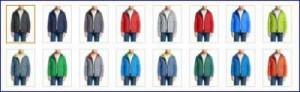 All colors of Columbia men watertight ii front zip hooded rain jacket.
