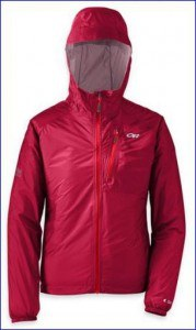 Outdoor Research Helium II rain jacket for women in one of many colors.