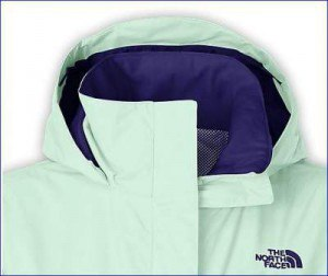 Pleasant collar, hood structure, and internal mesh visible.