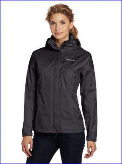 Marmot PreCip Women's rain jacket - one out of more than 20 colors.