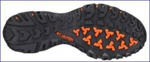 Aggressive sole with deep lugs.