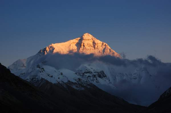 Sunset on Mount Everest.