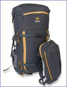 Detached front pocket which serves as a summit or day pack.