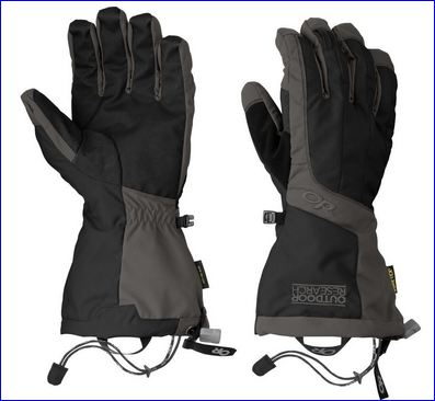 A pair of Outdoor Research men's Arete gloves.