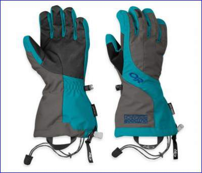 A pair of OR women's Arete gloves.