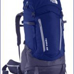 Terra 65 pack in blue - front view.