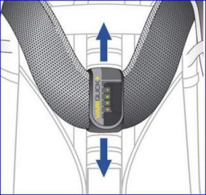 Vary-Quick torso adjustment system.