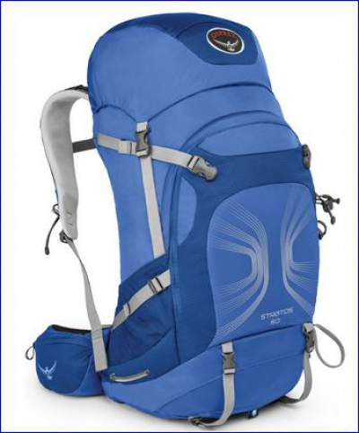 Osprey Stratos 50 pack in one of the two colors - front view.