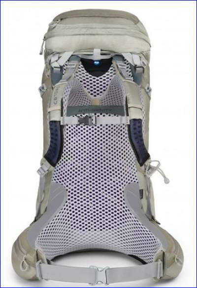 Osprey Aura 65 AG - with its award winning anti gravity suspended mesh system.