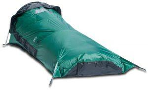 The bivy with the rain panel on.