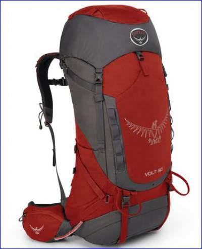 Osprey Volt 60 backpack - front view.