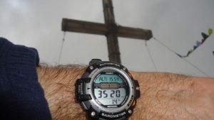 My Casio: almost perfect altitude measurement.